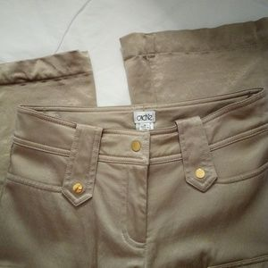 NWOT Tan and gold Cargo style pants.